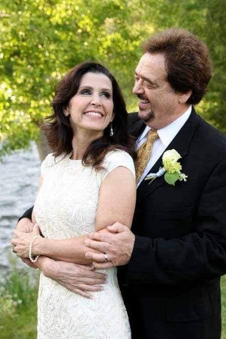 A picture of Karen Randall with her husband, Jay Osmond.