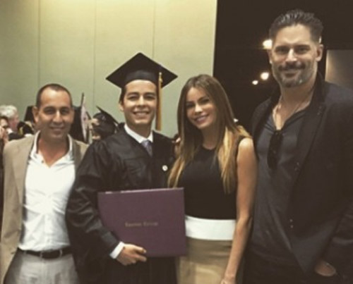 Joe Gonzalez attending his son Manolo graduation.