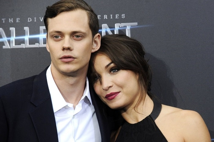 Alida and her handsome boyfriend Bill Skarsgard on the premiere of Allegiant,