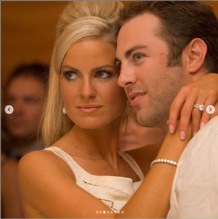 Erica Dahm and Jay McGraw on their wedding day.