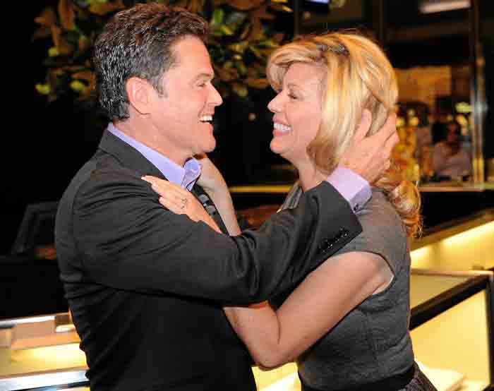 Debbie Osmond and Donny Osmond caught on camera.