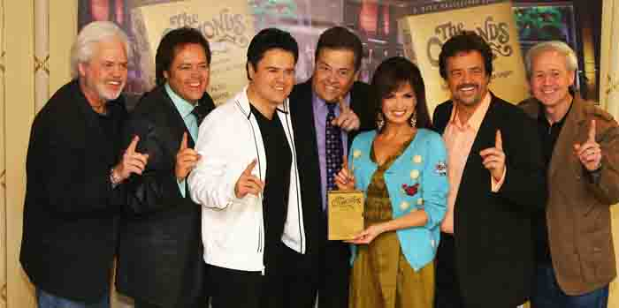 Alan Osmond celebrating 50 years of concerts with The Osmond band members.