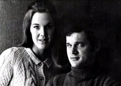 A picture of Catherine E. Coulson and her ex-husband Jack Nance.