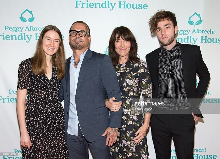 Jackson and his sister with their mother Katey Sagal and step father Kurt.Sutter
