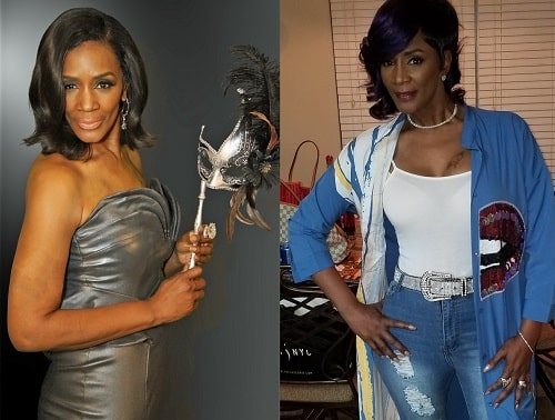 A picture of Momma Dee before (left) and after (right).
