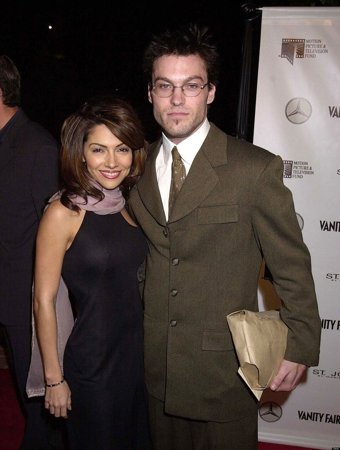 Brian with his ex fiancee Vanessa Marcil.