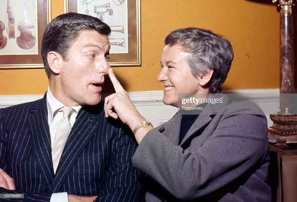 Margie Willett and Dick Van Dyke caught on camera.
