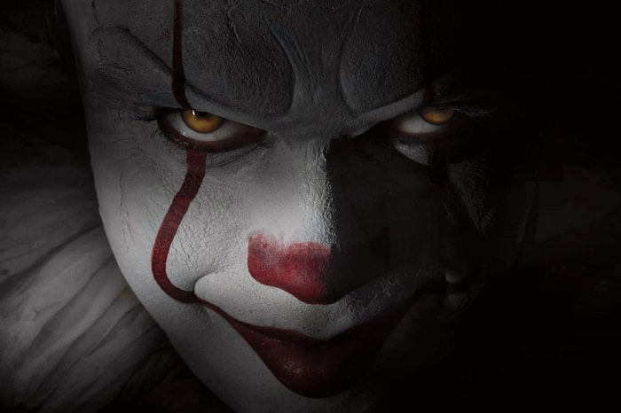 Bill as Pennywise in the movie 'IT'