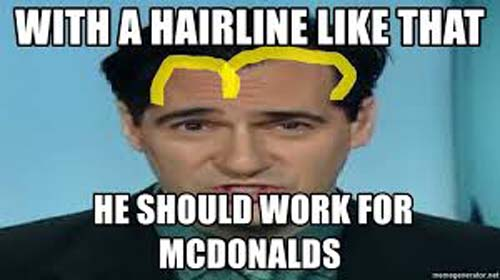 Carl Azuz hairstyle has been used for a meme post.