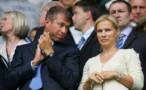 A picture of Irina Malandina with her former spouse Roman Abramovich.