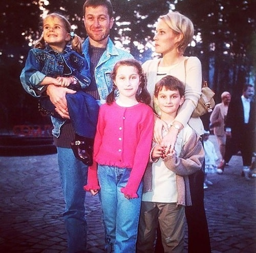 A picture of Irina Malandina with her three kids and former husband.