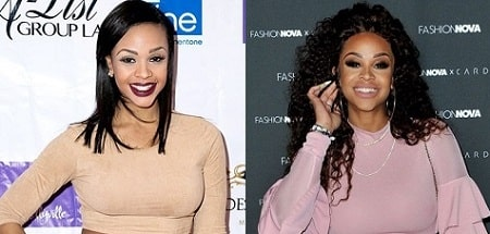 A picture of Masika Kalysha before (left) and after (right).