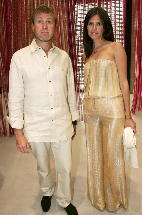 A picture of Roman Abramovich with his ex-wife Dasha Zhukova.
