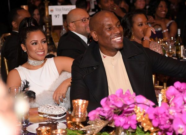 Tyrese Gibson and his wife Samantha in a function