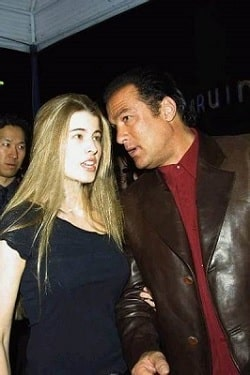 A picture of Annaliza Seagal with her father, Steven Seagal.