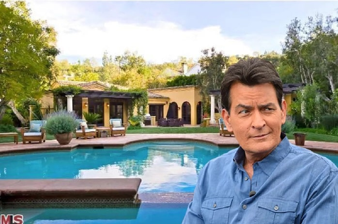 charlie sheen in his house