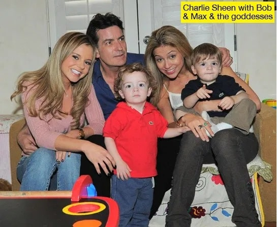 charlie with Brooke Mueller with their children