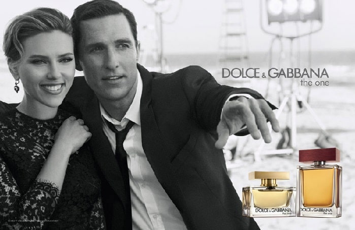 Matthew and Scarlett in the ad of Dolce & Gabbana