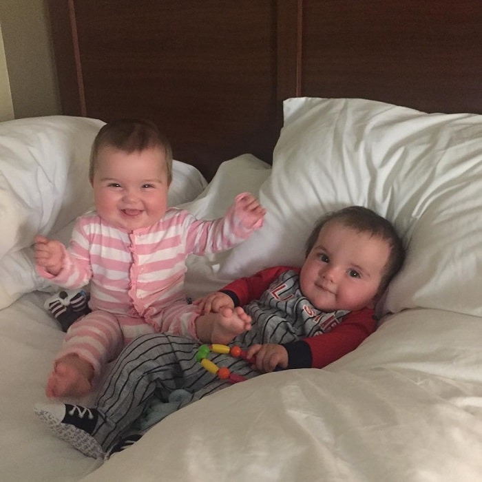 Nick and Heather's adorable twins, Layla and Logan.