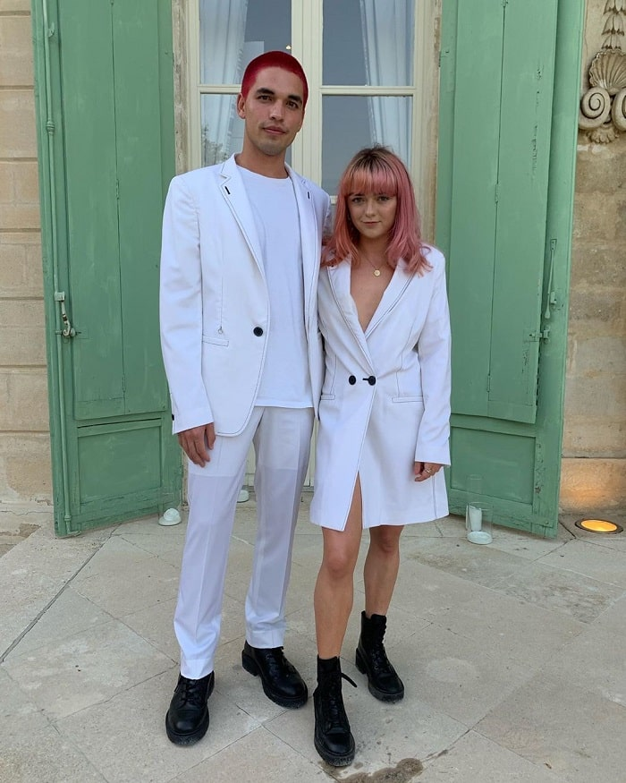 Reuben and Maisie on Joe Jonas and Sophie Turner's wedding.