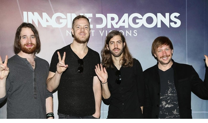 Dan with his band Imagine Dragons