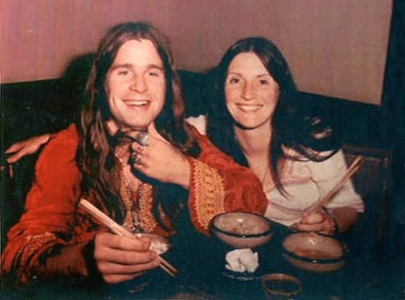 Thelma Riley and Ozzy Osbourne having dinner together.