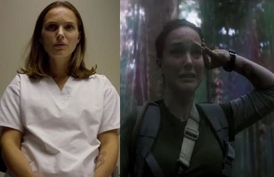 A picture of Natalie Portman's left forearm hand tattoo in the movie 'Annihilation'.
