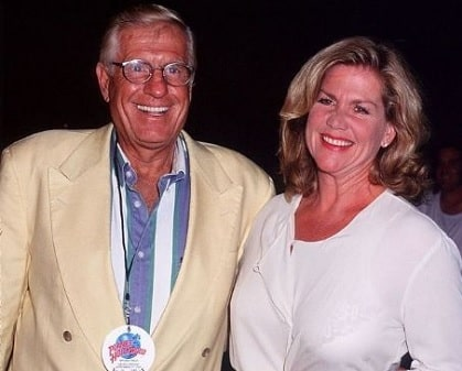 A picture of Shirley Ann Janes with her late husband Jerry Van Dyke.