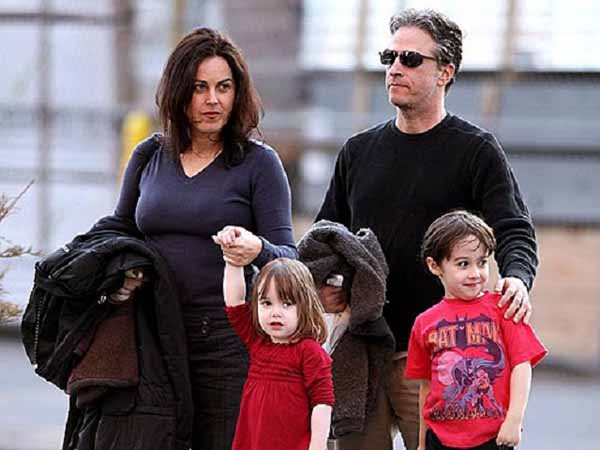 Tracey McShane and Jon Stewart outing with their children