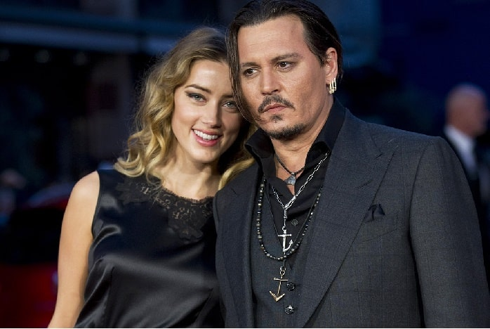 Amber with her ex-husband Johnny Depp