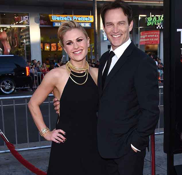 Anna Paquin  with her husband Stephen Moyer.