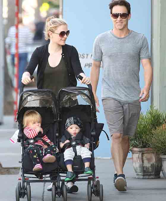 Stephen Moyer outing with her husband Stephen Moyer and children.