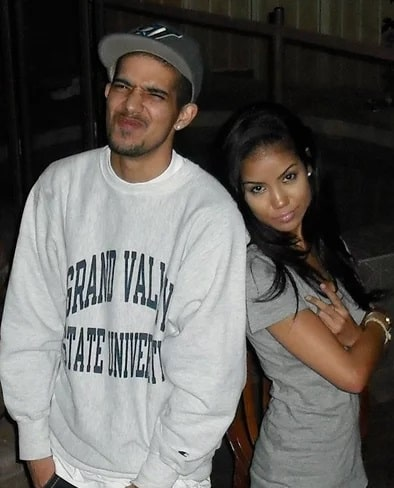 A picture of Jhene Aiko with her late brother Miyagi Hasani Ayo Chilombo.