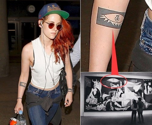 A picture of Tattoo on the Right Forearm of Kristen Stewart.