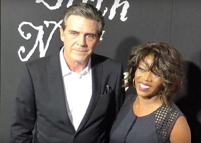A picture of Alfre Woodard with her husband, Roderick Spencer.
