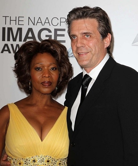A picture of Duncan's parents Alfre Woodard and Roderick Spencer.