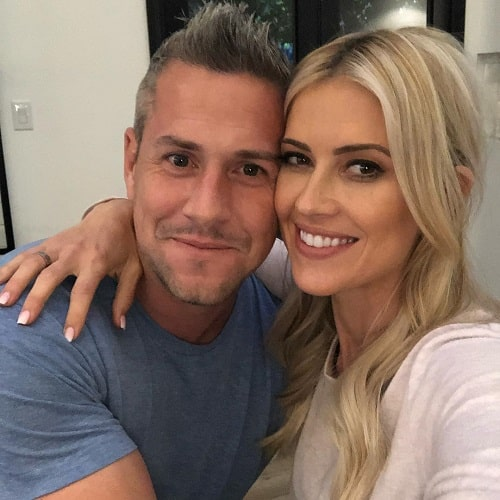 A picture of Christina Anstead with her husband Ant Anstead.