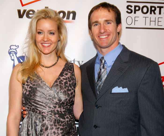 Brittany Brees with her husband Drew Brees.