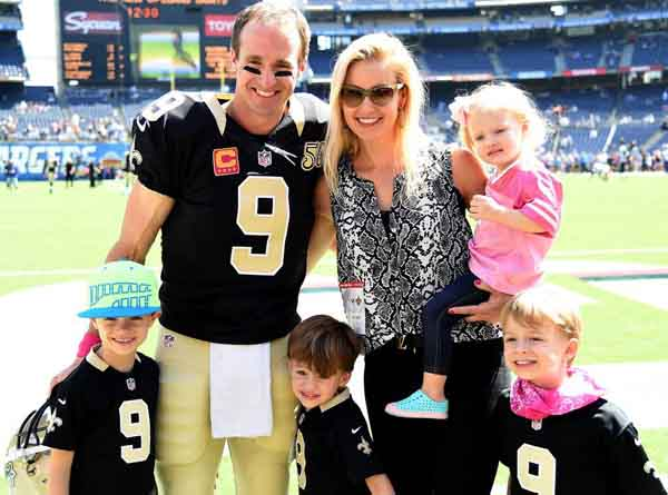 Brittany Brees with her family.