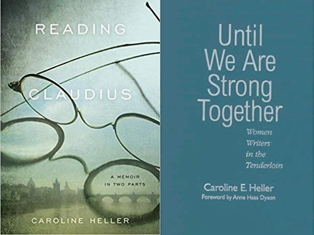 A picture ofCover pages of Caroline Heller's books.