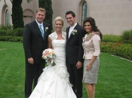 Steve and Marie Osmond on their son's wedding day.