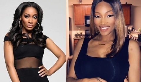 A picture of Erica Dixon before (left) and after (right).