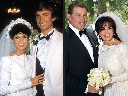 Steve Craig and Marie Osmond on their first ans second marriage ceremony.