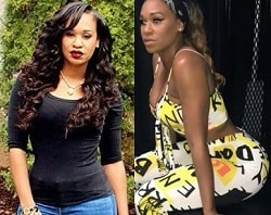 A picture of Traci Steele before (left) and after (right).