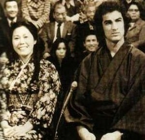 A picture of Steven Seagal and his ex-wife Miyako Fujitani.