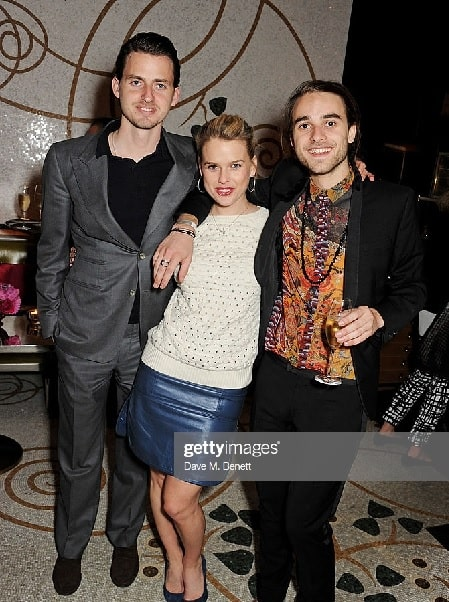 Alice Eve with her two younger brother  Jack Eve and George Eve.