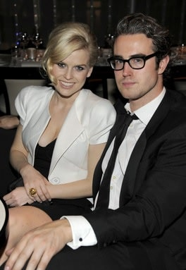 Alice Eve with her ex-boyfriend Adam O'Riordan.
