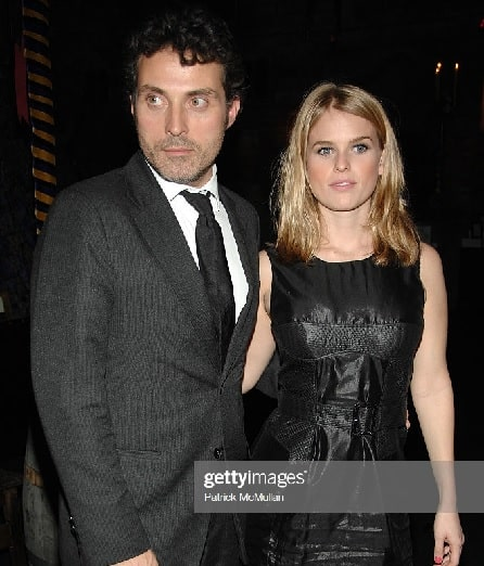Alice Eve with her ex-boyfriend Rufus Sewell.