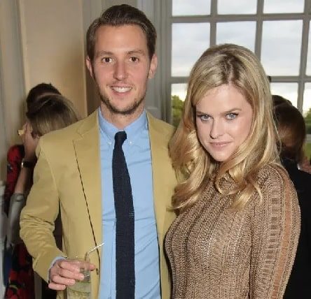 Alice Eve with her ex-husband Alex Cowper-Smith.