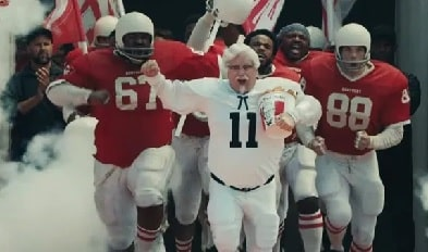 Sean Astin as Colonel Sanders in KFC commercial.